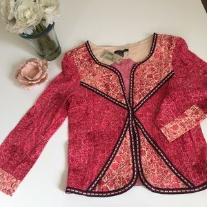 American Eagle BoHo Festival Quilted Jacket Pink M
